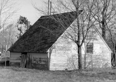 black and white PowerHouse building in disrepair taken in 1998 at the Packard Proving Grounds Historic Site