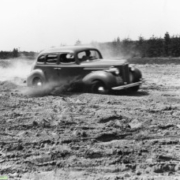 Packard car testing in the PPG badlands sand pit