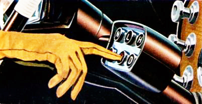 1956 Packard ad featured the latest in fingertip control with the new Twin-Ultramatic Drive